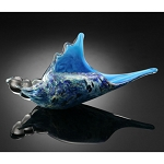 Blue Murex Shell Art Glass