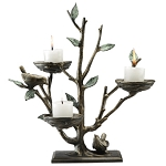 Bird And Branch Triple Candle Holder