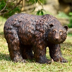 Rust Finish Garden Bear