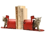 Special Delivery Cat Bookends