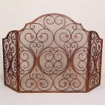 Provincial Fireplace Screen Triple Panel