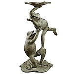 Ballet Dancer Frogs Bird Feeder