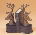 Lodge Deer Head Bookends