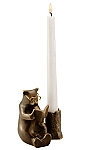 Reading Bear Taper Candleholder