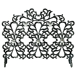 Scroll And Votive Fireplace Screen