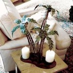 Palm Tree Pillar Candle Holder