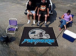 Large Carolina Panthers Logo Area Rug