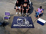 Large Denver Broncos Logo Area Rug