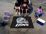 Large Detroit Lions Logo Area Rug