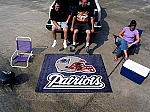 Large New England Patriots Logo Area Rug