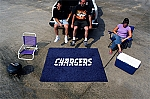 Large San Diego Chargers Logo Area Rug