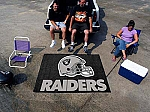 Large Oakland Raiders Logo Area Rug