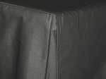 Twin Charcoal Gray Tailored Dustruffle Bedskirt