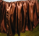 Queen Copper Satin Dustruffle Bedskirt
