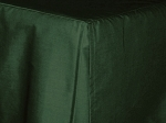 Antique Dark Forest Green Tailored Dustruffle Bedskirt