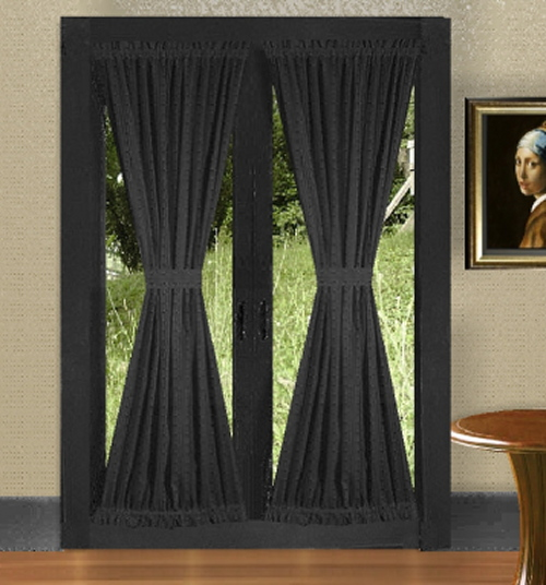Black French Door Curtains
