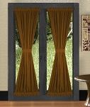 Copper French Door Curtains