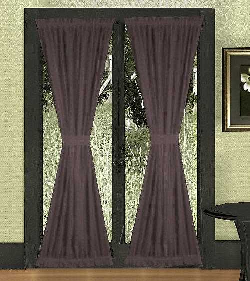 Eggplant Purple French Door Curtains