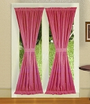 Fushsia French Door Curtains