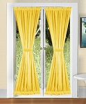 Golden Yellow French Door Curtains