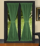 Hunter Green French Door Curtains