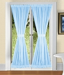Light Baby Blue French Door Curtains