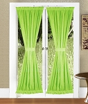Lime Green French Door Curtains