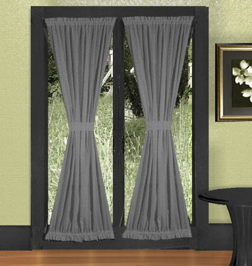 Medium Gray French Door Curtains