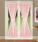 Pink French Door Curtains
