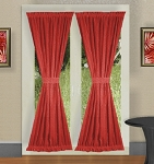 Red French Door Curtains