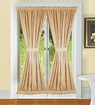 Tan French Door Curtains