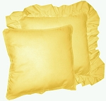 Golden Yellow Solid Colored Ruffled or Corded Pillows Set of 2