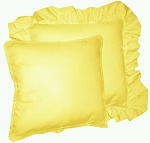 Lemon Yellow Solid Colored Ruffled or Corded Pillows Set of 2