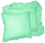 Mint Solid Colored Ruffled or Corded Pillows Set of 2