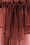 Brick Red Sheer Window Scarf Valance