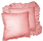 Rose Solid Colored Ruffled or Corded Pillows Set of 2