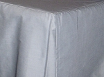Olympic Queen Light Silver Gray Tailored Dustruffle Bedskirt