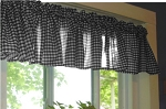 Black Gingham Window Valances
