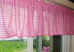 Hot Pink Gingham Window Valances