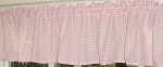 Light Pink Gingham Window Valances