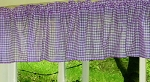 Purple Gingham Window Valances