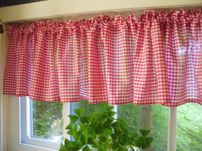 Red Gingham Window Valances