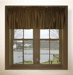 Brown Window Valances