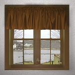 Copper Brown Window Valances