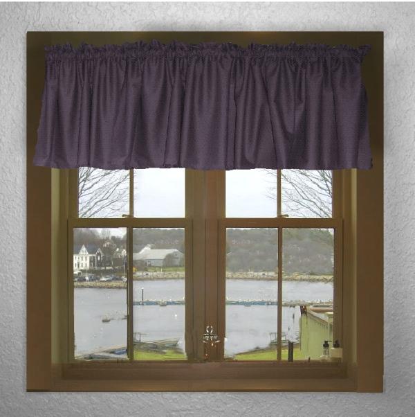 Hunter Green Kitchen Curtains: Eggplant Purple Window Valances