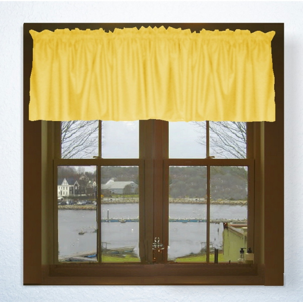 Golden Yellow Window Valances