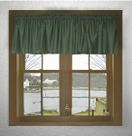 Hunter Green Window Valances