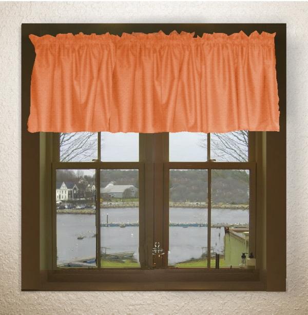 Orange Window Valances
