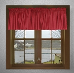 Red Window Valances