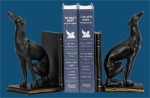 Black Greyhound Bookends